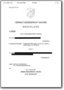 VG Aachen, Beschluss vom 22.11.2018 - 1 L 1614/18 (PDF-Datei)